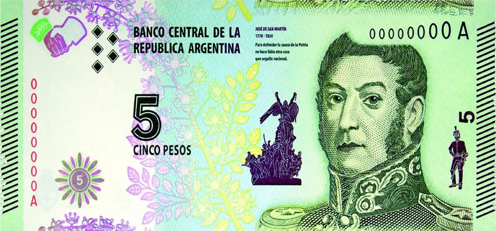 Lanzan el nuevo billete de 5 pesos